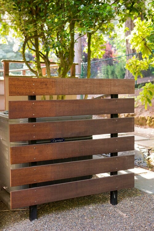 Simple One-Sided Contemporary Fence