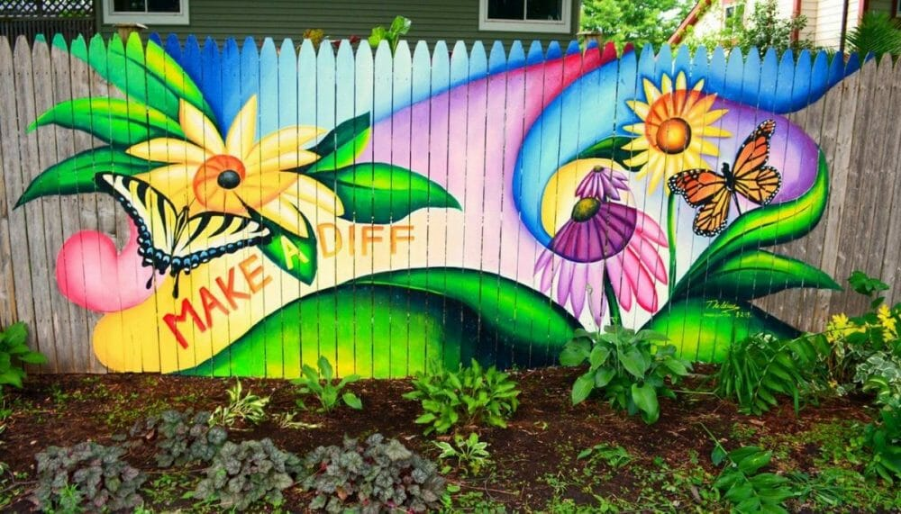 Uplifting Picture and Quote for Fence Painting Ideas
