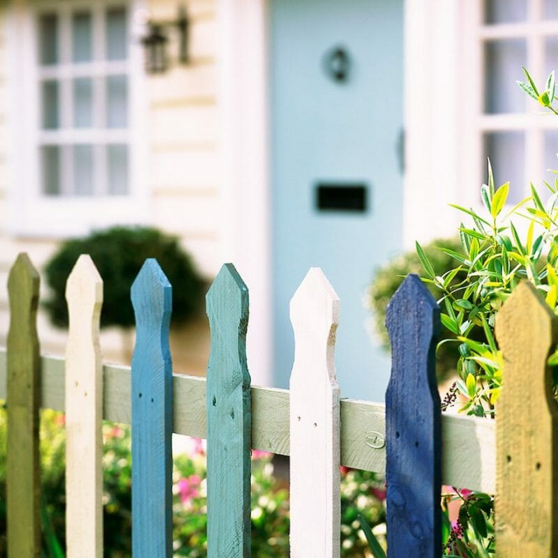 the array of colors picket fences