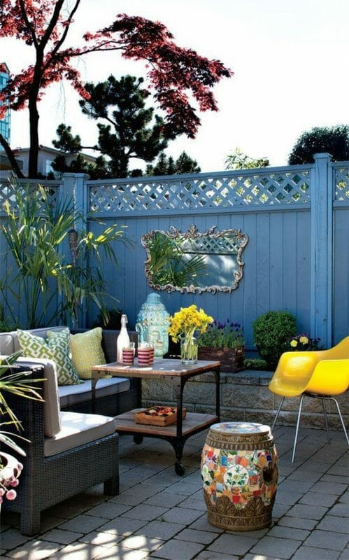 Blue Fence Painting Ideas