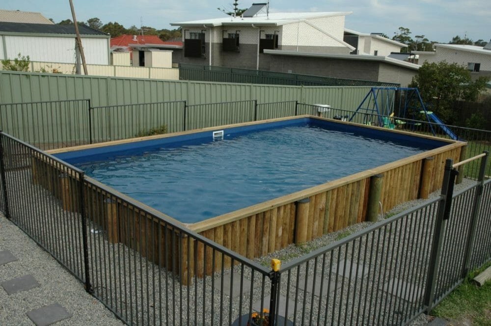 Above-Ground Pool Fence Ideas without any Deck