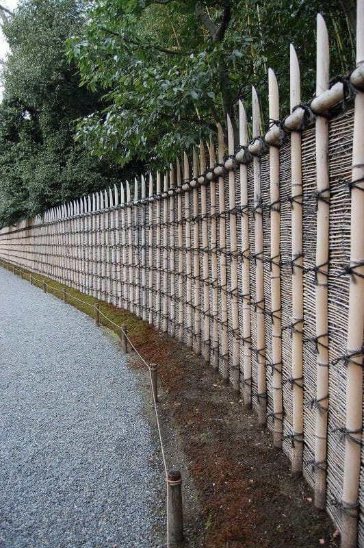 bamboo fence on walls