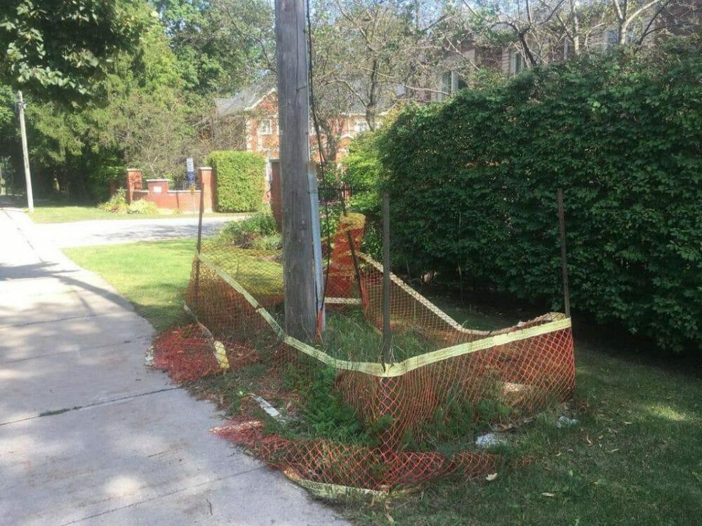 temporary fence hire orange