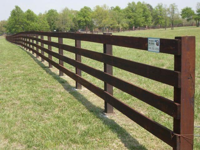 horse fence four rails idea