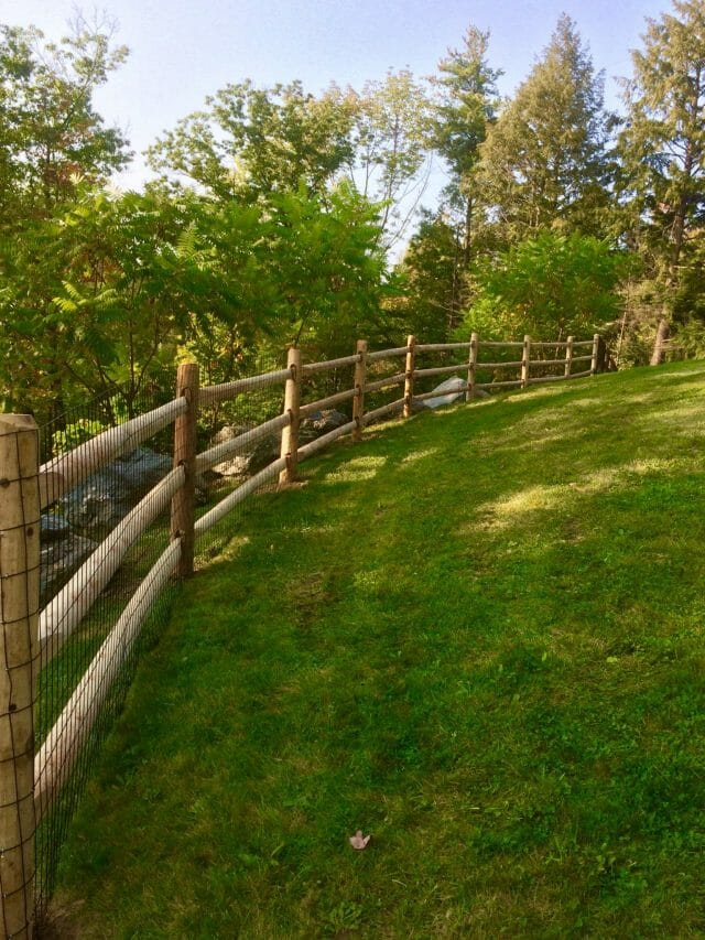The Pine Tree and Hog Wire horse fence