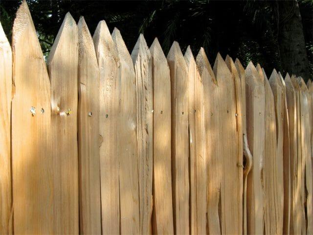 vertical Log horse fence