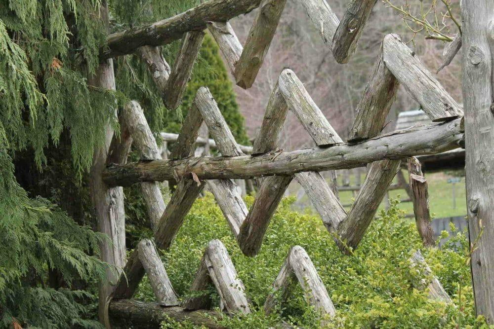 Patterned Log Fencing